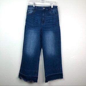 Warp +Wept Incheon cropped wide leg jeans, 31 X 27